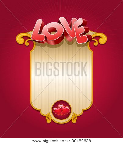 Valentine's Day card. All elements are layered separately in vector file. Easy editable.