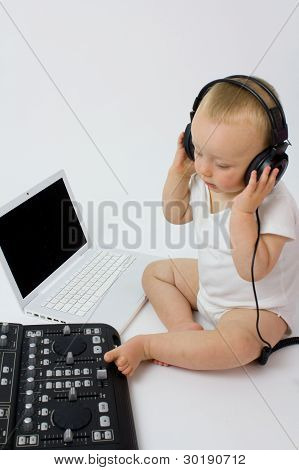 Dj Baby In Headphones
