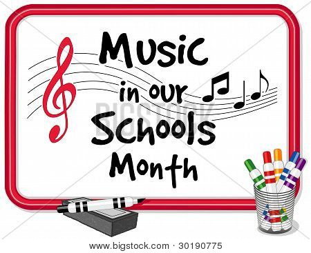 Music In Our Schools Month Whiteboard