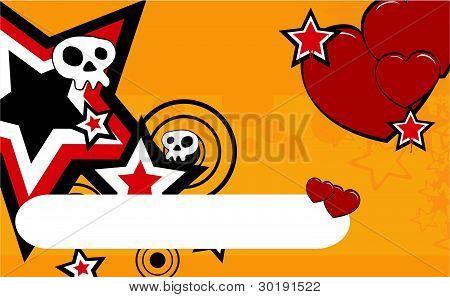 skull cartoon background