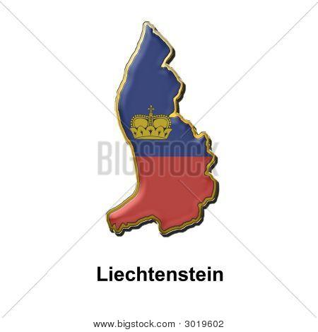 Liechtenstein Metal Pin Badge