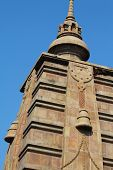 pic of vihara  - Beautiful towers of modern Mulagandhakuti Vihara temple sarnath - JPG