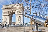 stock photo of charles de gaulle  - The Arc de Triomphe  - JPG