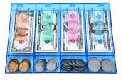 Cash Draw Of Toy Paper And Coin Money USD poster