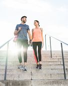 Beautiful Couple Going Together To The Gym. poster