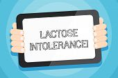 Text Sign Showing Lactose Intolerance. Conceptual Photo Digestive Problem Where Body Is Unable To Di poster