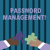 Text Sign Showing Password Management. Conceptual Photo Software Used To Help Users Better Analysisa poster