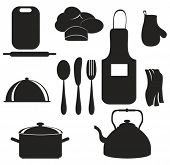 kitchen set black