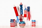 Diy 4th Of July Decor Color American Flag, Red, Blue, White. Gift Idea, Decor July 4, Usa Independen poster