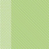Geometric Striped Pattern With White Continuous Lines With Checkered Insert On Light Green Backgroun poster
