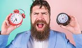 Changing Time Zones Affect Health. Does Changing Clock Mess With Your Health. Man Bearded Hipster Ho poster