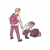A Bully Child With Bad Behavior Makes A Bullying And Prepares To Beat The Boy. poster
