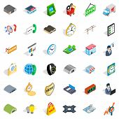 Packing Icons Set. Isometric Style Of 36 Packing Icons For Web Isolated On White Background poster