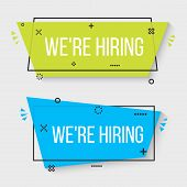 Creative Vector Illustration Of We Are Hiring - Join Our Team Text Banner Isolated On Transparent Ba poster