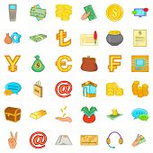 Real Asset Icons Set. Cartoon Set Of 36 Real Asset Icons For Web Isolated On White Background poster