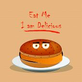 stock photo of eat me  - eat me i am delicious - JPG