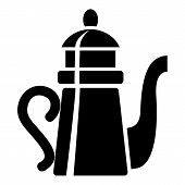 Tall Teapot Icon. Simple Illustration Of Tall Teapot Icon For Web poster