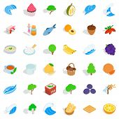 Genuine Icons Set. Isometric Set Of 36 Genuine Icons For Web Isolated On White Background poster