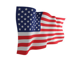 picture of waving american flag  - USA flag - JPG