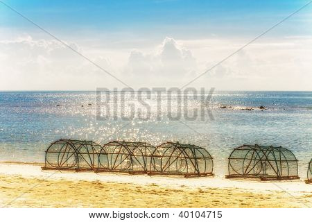 Big fishing gear at the beach. Thailand