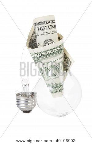 Light  Bulb With Dollar