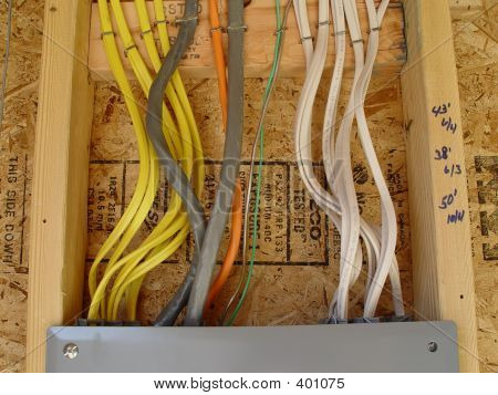 Wires And Electrical Panel