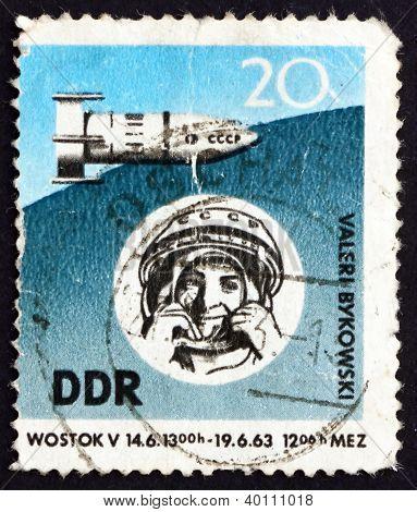Postage Stamp Gdr 1963 Space Flight Of Valeri Bykovski