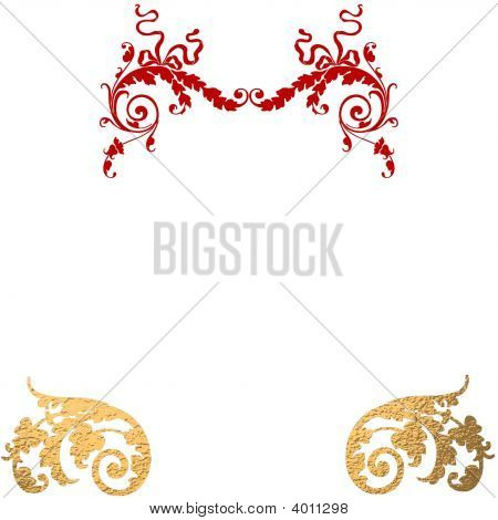 Gold Red Decorative Background