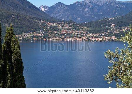 The town of Menaggio on lake Como in Italy