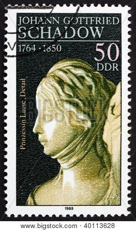 Postage Stamp Ddr 1981 Princess Luise, Detail Of Sculpture