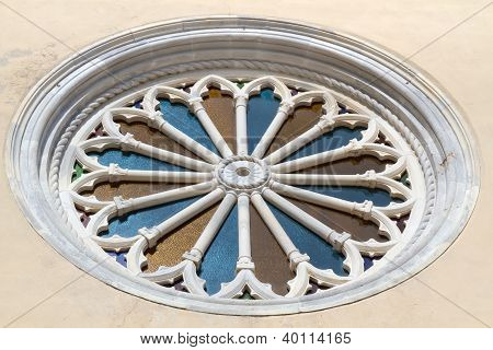 Historic church window, Italy