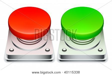 Red and green buttons.