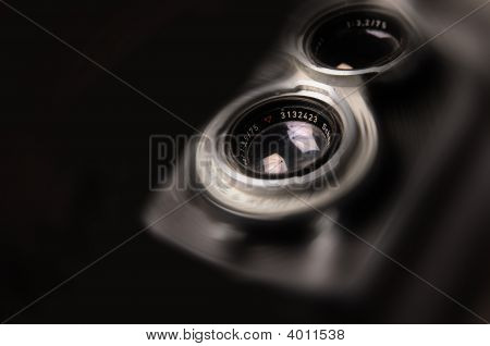 Photo Illustration Of Vintage Twin Lens Camera