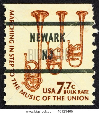 Postage Stamp Usa 1976 Saxhorns, Musical Instruments