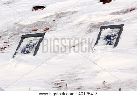 Big Snow On A Roof