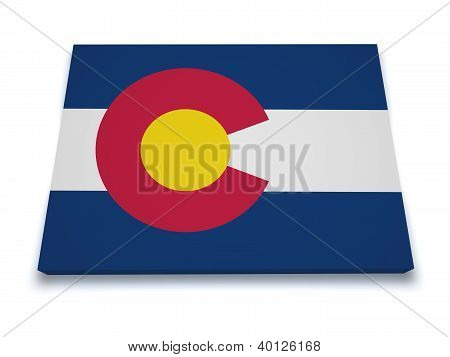 Colorado Map 3D Shape