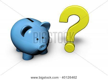 Piggy Bank Question Mark