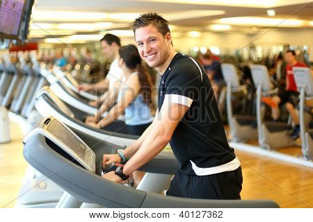 Man On Treadmill Smiling