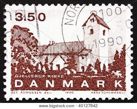 Postage Stamp Denmark 1990 Gjellerup Church, Jutland