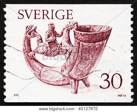 Postage Stamp Sweden 1976 Drinking Horn