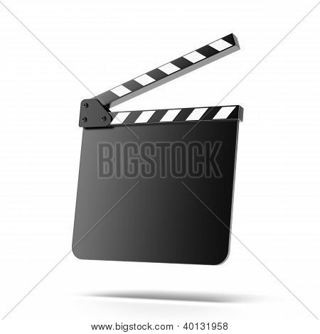 Open empty clapper board