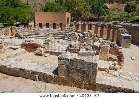 Odeon. Gortyn, Crete, Greece