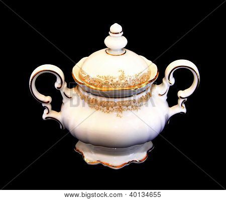 Expensive Porcelain Teaset Sugar Pot