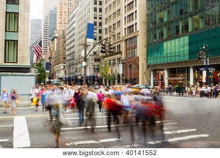 Rush Hour On Fifth Avenue, New York