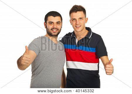 Succesvolle mannen vriendschap