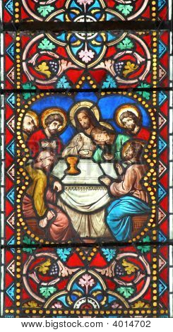 The Last Supper (Stained Glass Window)