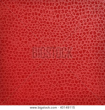 Red seamless vector black leather texture background.