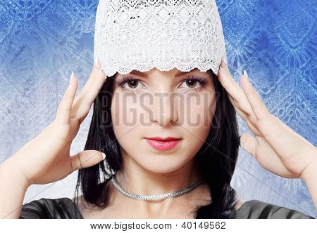 Young Woman Fashion Studio Portrait
