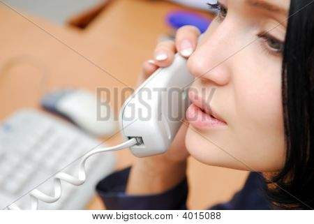 Woman Speaking By Phone