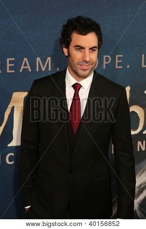 NEW YORK-DEC 10: Actor Sacha Baron Cohen attends the premiere of